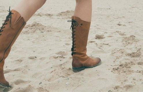 Cornwall handmade luxury shoes boots oak and hyde leather tan cognac beach sea surf sadie jewellery cornish newquay