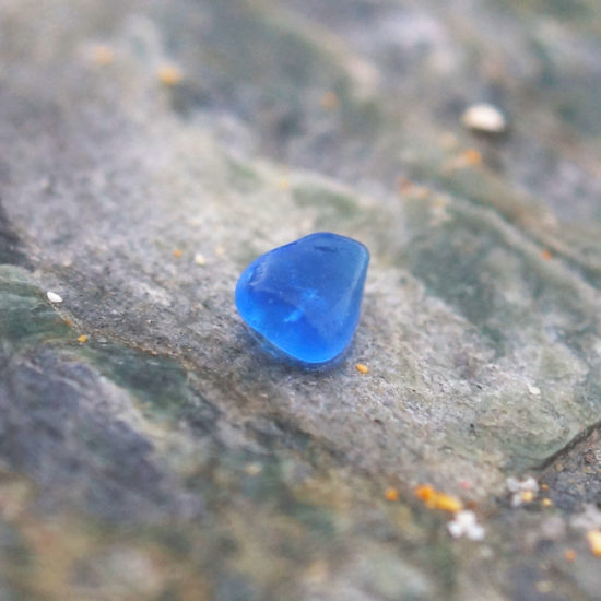 "build your own custom Sea Glass vivid blue ring hammered sparkly sterling silver cornwall Newquay handmade beachcombed surf jewellery aqua belcher chain 14"" 16"" 18"" 20"" 22"" sand waves ocean beach mermaid boho recycled bohemian womens girls plastic free handmade turquoise aqua cobalt blue"