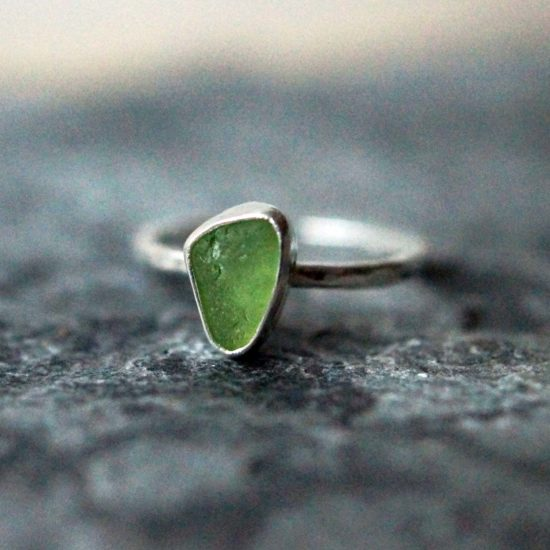 "Sea Glass ring sterling silver cornwall Newquay handmade beachcombed surf jewellery aqua belcher chain 14"" 16"" 18"" 20"" 22"" sand waves ocean beach mermaid boho recycled bohemian womens girls plastic free handmade recycled"