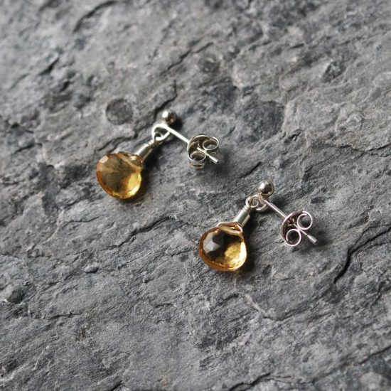 "citrine yellow sterling silver stud earrings cornwall Newquay handmade beachcombed surf jewellery aqua belcher chain 14"" 16"" 18"" 20"" 22"" sand waves ocean beach mermaid boho recycled bohemian womens girls plastic free handmade lariat"